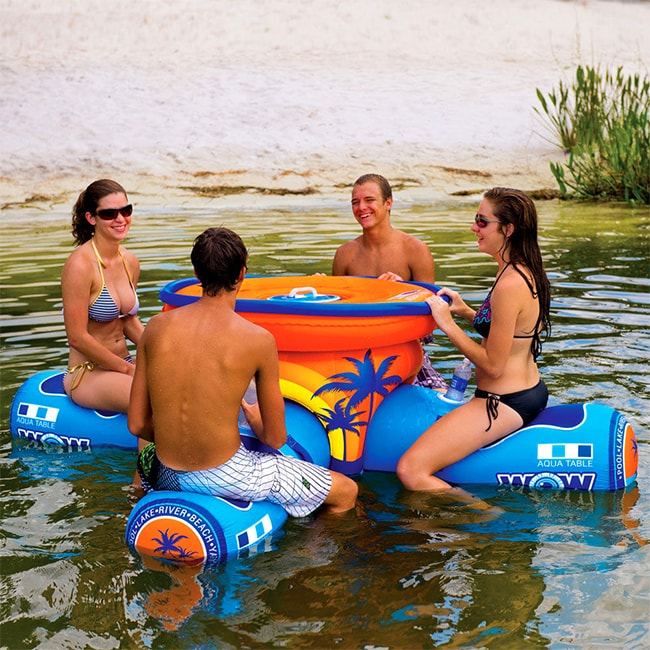 Colchoneta hinchable mesa para piscina deja de pensar for Colchonetas piscina