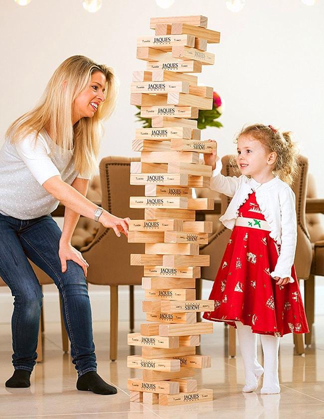 Juego Torre De Madera Jenga Gigante Deja De Pensar