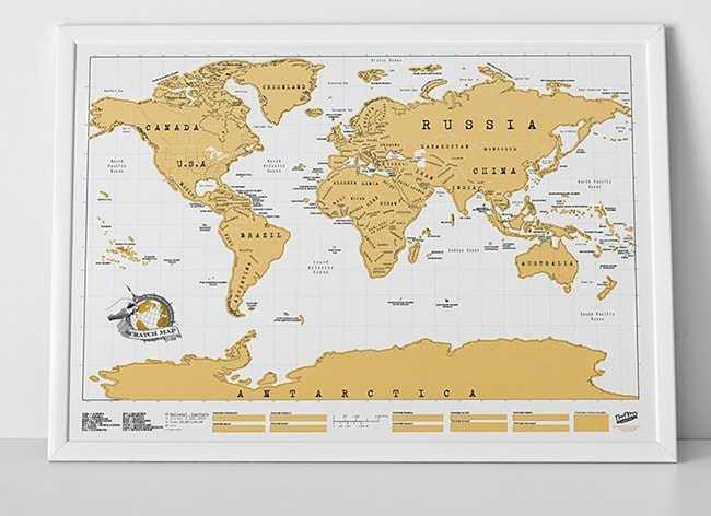 Mapamundi Para Rascar Paises Visitados Deja De Pensar